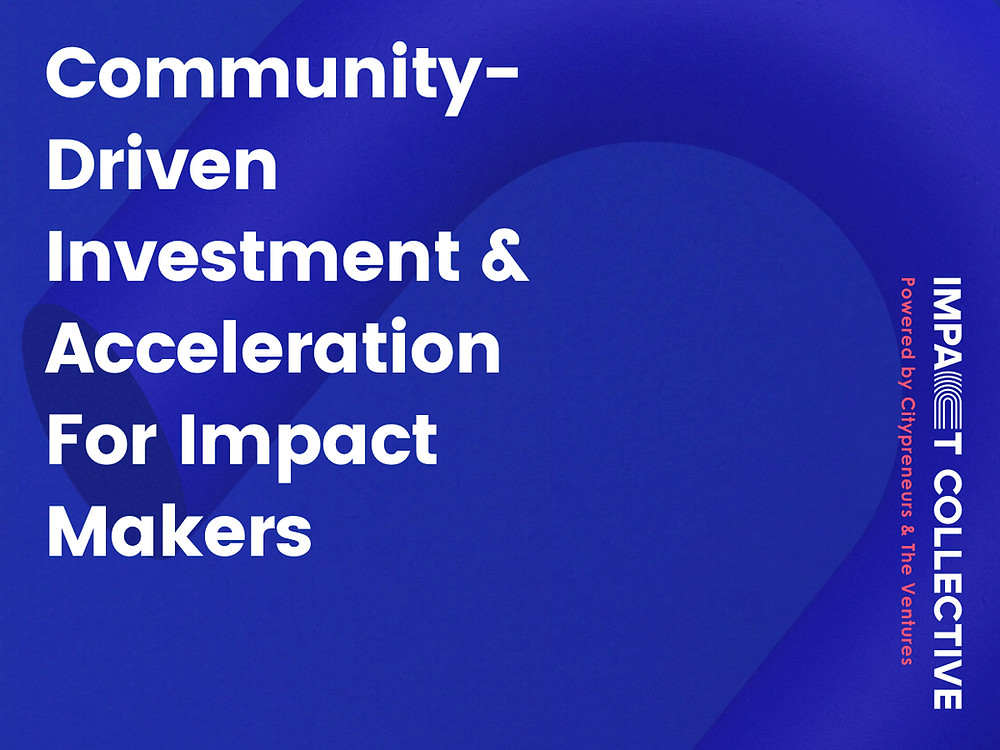Impact Collective is a community-driven acceleration program for startups focusing on opportunities in Asia. We invest in, support, and connect startups that are solving global challenges to accelerate positive impact in the world..