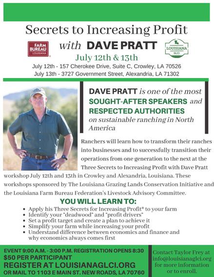 Secrets to Increasing Profit with Dave Pratt