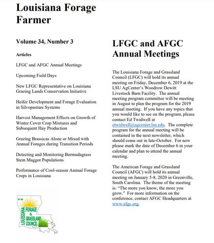 LFGC Newsletter (July 2019)