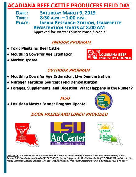 Acadiana Field Day March 2019