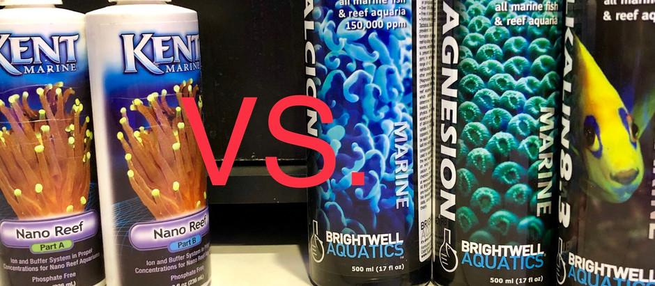 How To Dose Magnesium and Calcium:  Kent Nano vs. Brightwell Aquatics