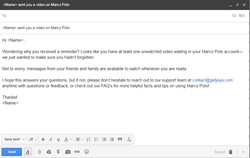 Email Alert for Marco Polo
