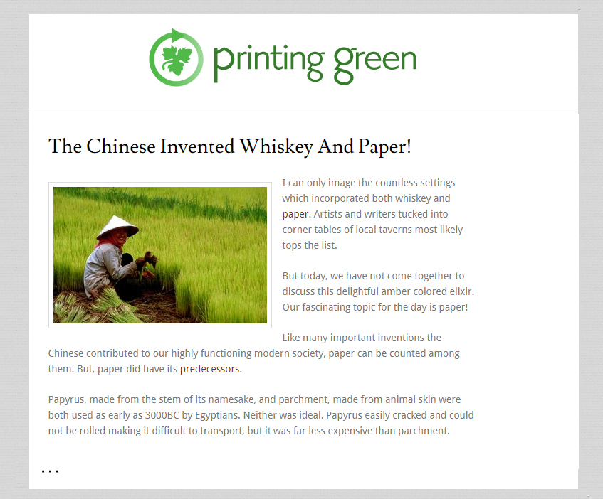 PrintingGreen Blog