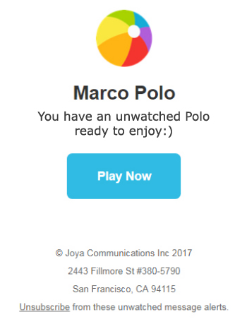 Marco Polo Notification
