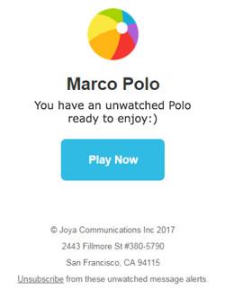 Marco Polo Notification