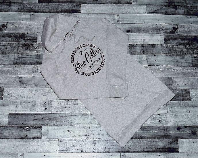 Grey Long Pullover Hoodie