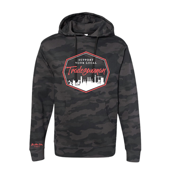 Camo & Coral mid-weight hoodie