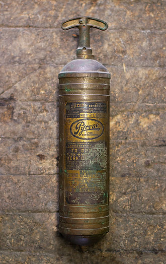 Antique pyrene extinguisher