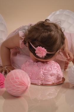 sesja z okazji roczku. Smash cake