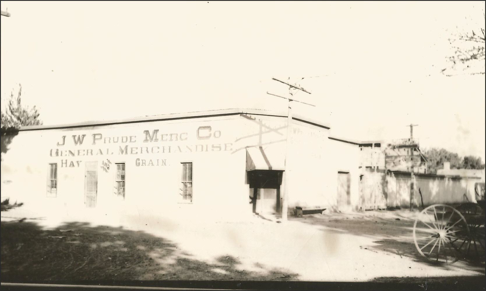The J.W. Prude Merc Co on Granado Street.
