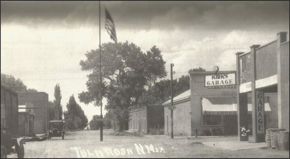 Downtown Tularosa in 1918 looking north up 4th Street (now US highway 70).