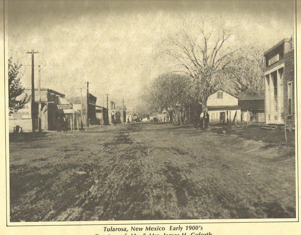Downtown Tularosa looking west on Granado Street.