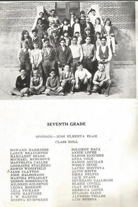 Tularosa 7th grade class of 1930.