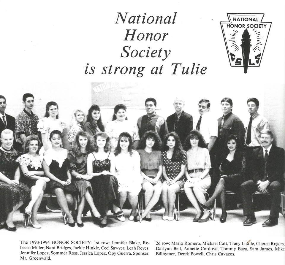 1993 Tularosa High National Honor Society