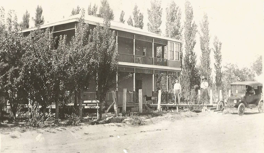 The two story Aguilar residence built in 1910.