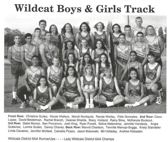 1996 Tularosa High Track team