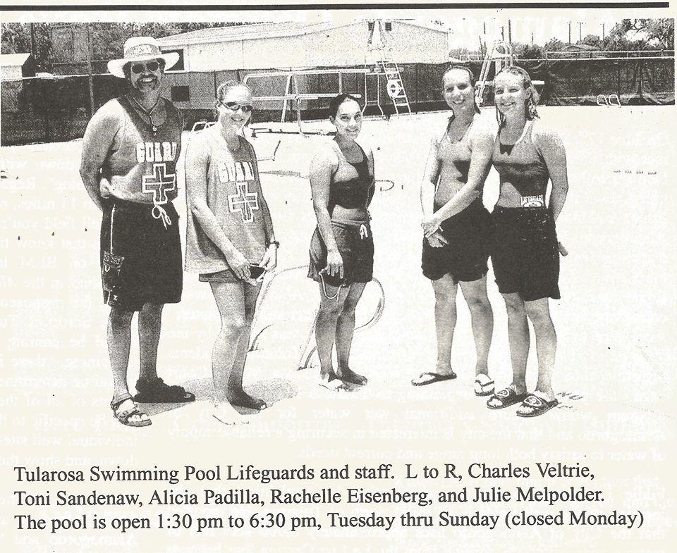 Tularosa swimming pool life guards.