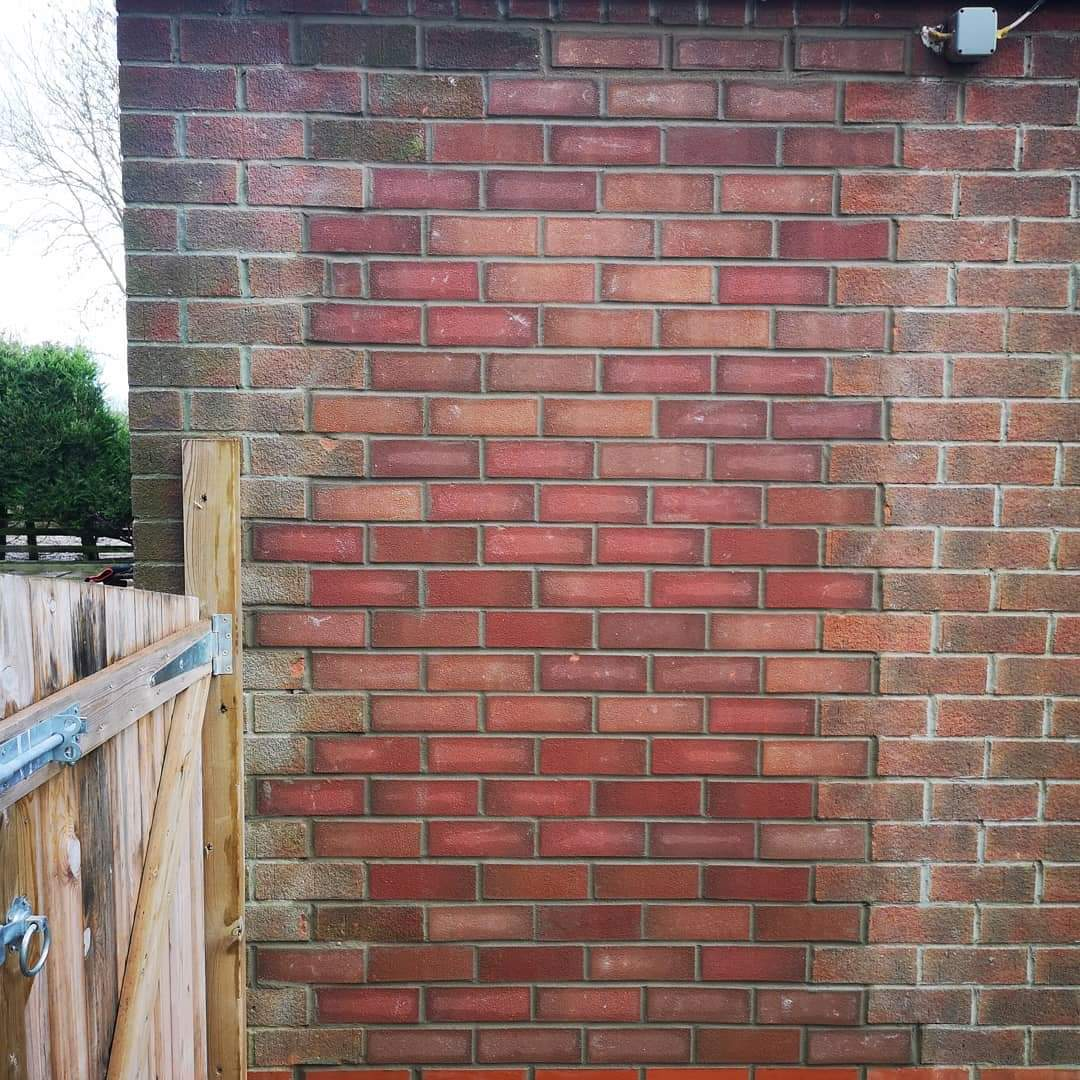 bricking up an old door