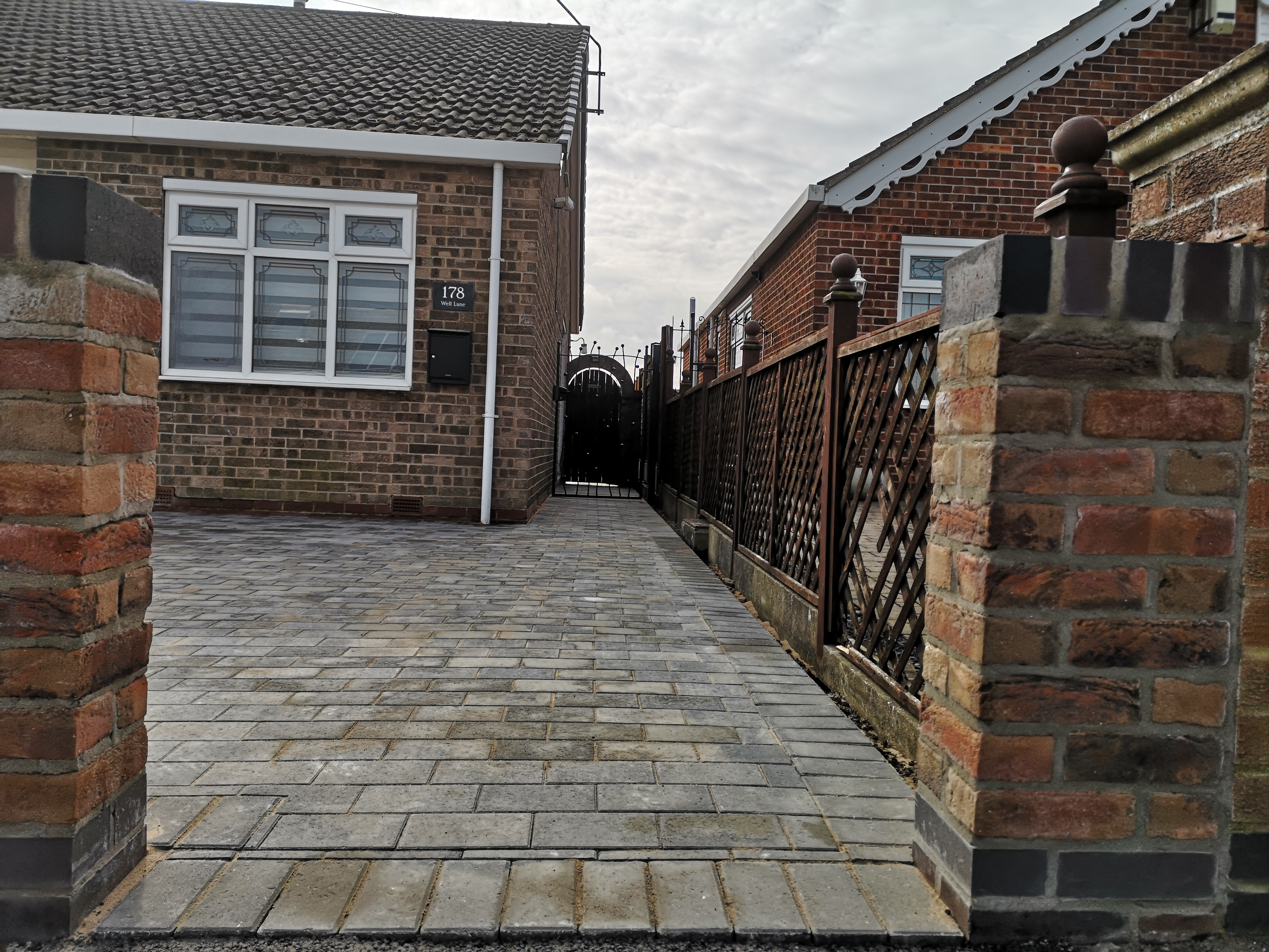 wall and paving