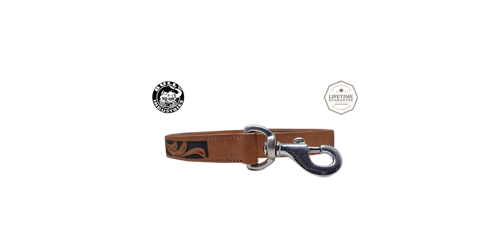 Brown Tooled Leather Lead