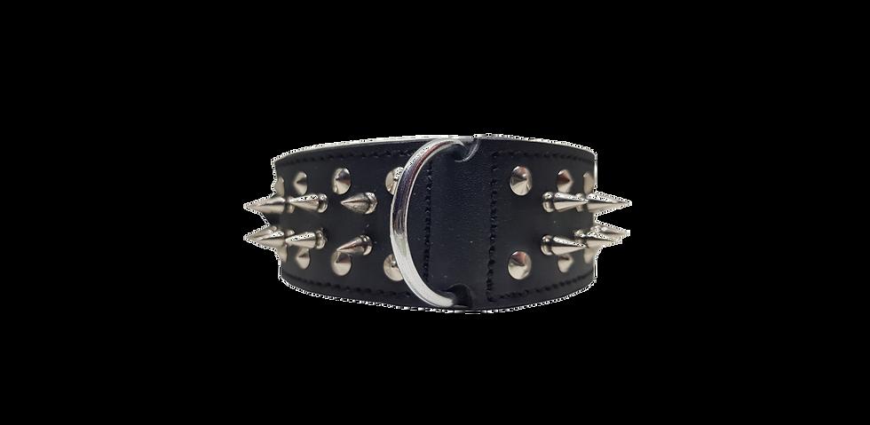Bully Industries Black Studded Dog Collar