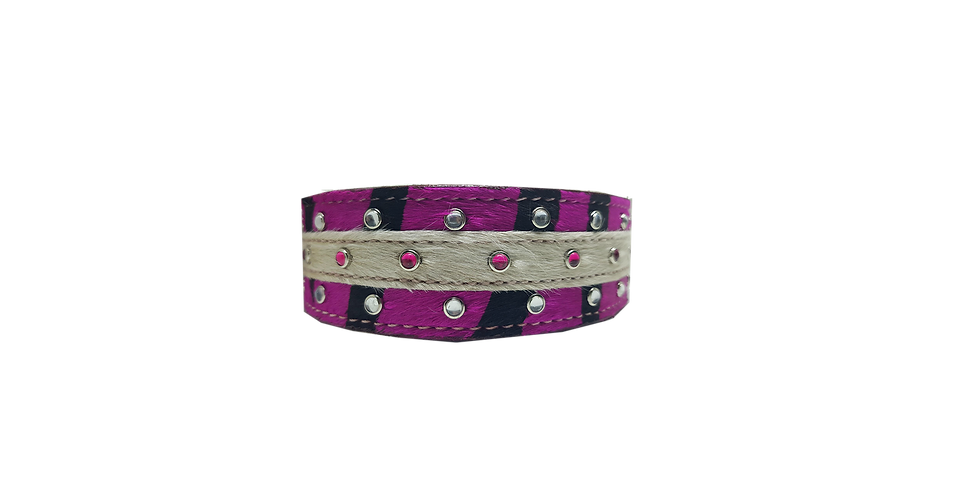 Leather Dog Collar Pink