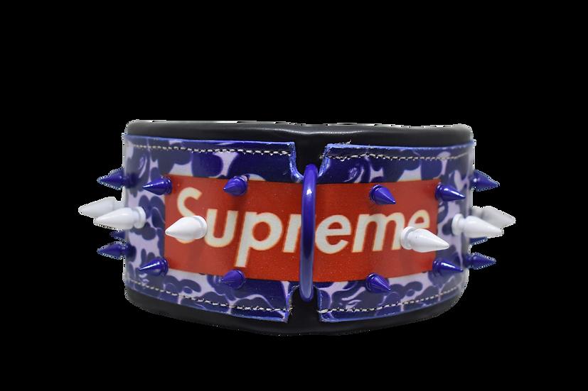 Supreme Inspired Leather Collar & Leash Set