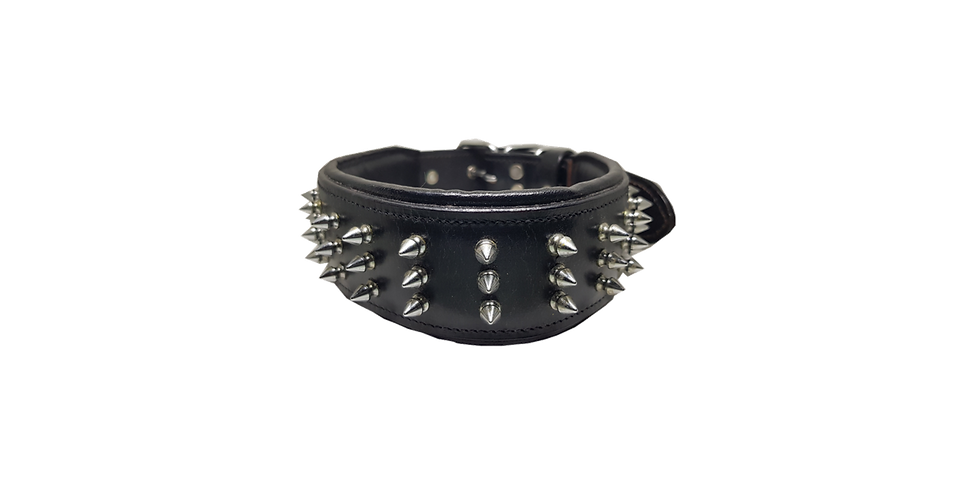 LEATHER DOG COLLAR BLACK BULLY INDUSTRIES