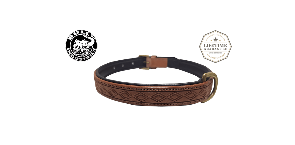 Bully Industries Leather Dog Collar Brown