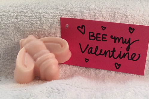 Bee My Valentine Soap with Goat's Milk