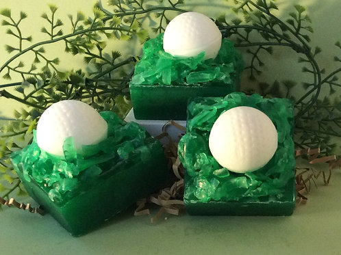 Golf Ball in Grass Soap