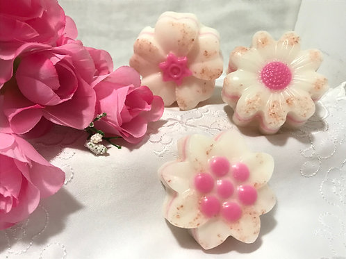 Pink Exfoliating Flower Shea Butter Soap