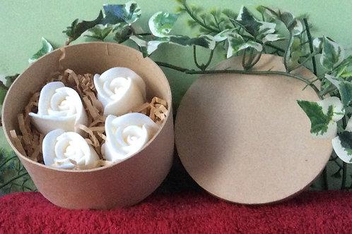 Soap Roses with Goat Milk 4 per Box