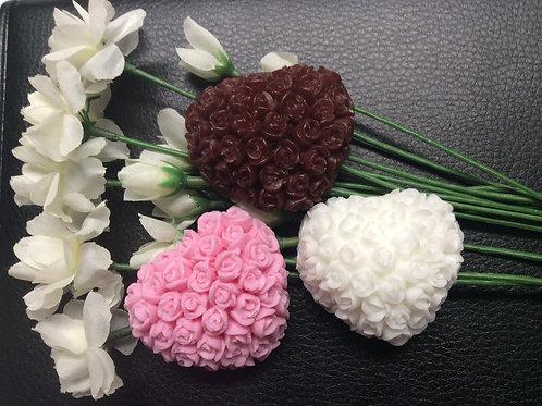 Small Flower Heart Soap