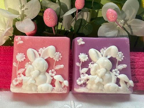 Rabbit in Garden Soap