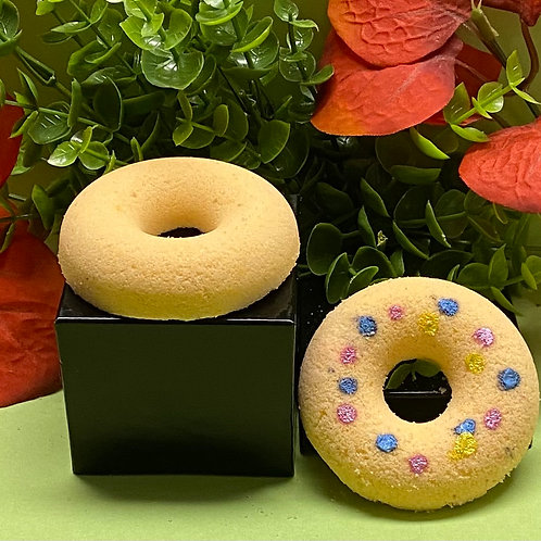 Orange Ginger Donut Bath Bombs