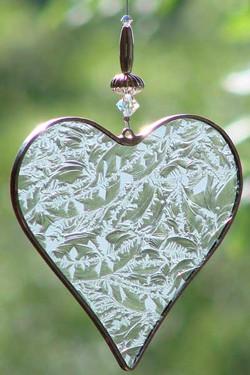 Herz Eisblume