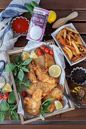 MAISTRO Fish n Chips mit Ketchup