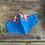 Thumbnail: Blue Mask - White and Orange flowers