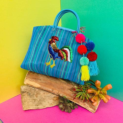 El Gallo Satchel - Blue Rainbow