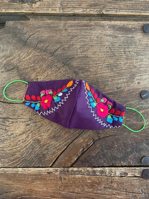 Purple Mask - Flower Garland