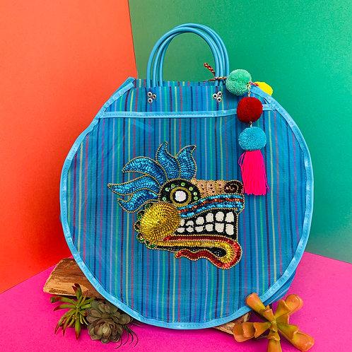 Quetzalcoatl Carry All - Blue Rainbow