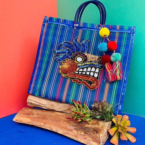 Quetzalcoatl Tote - Dark Blue