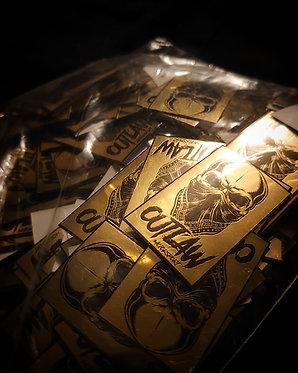 Gold Skull 25mm x 40mm