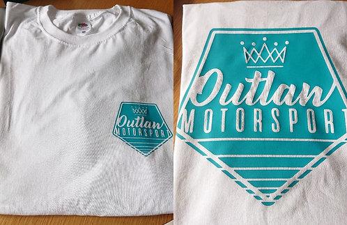 T-Shirt White / Teal