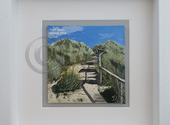 painting-mini-oil-brittas-bay-steps