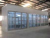 Glass door display walk in Freezer room