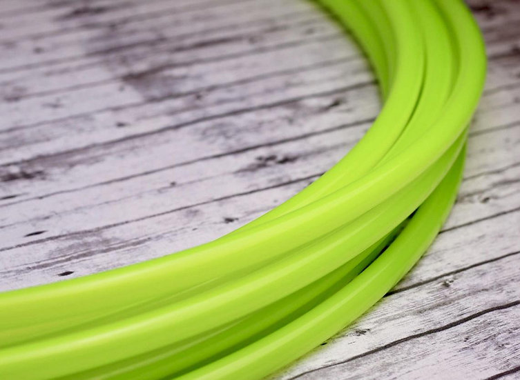 5/8 UV Highlighter Yellow Radioactive Glossy Bare Polypro Hoop