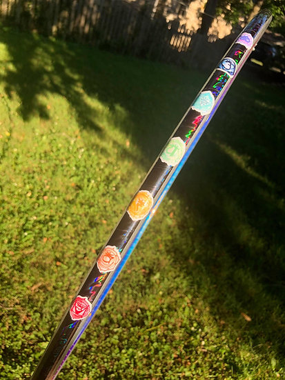 """Ready to ship! 28""""OD 5/8 Reflective Chakra Coinflip Hoop"""