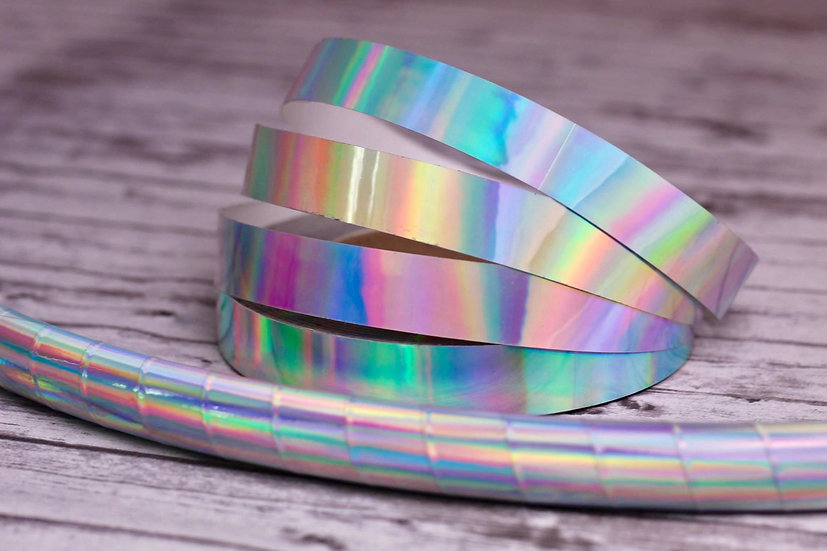 Holographic Laser Beam Taped Polypro or HDPE Hoop